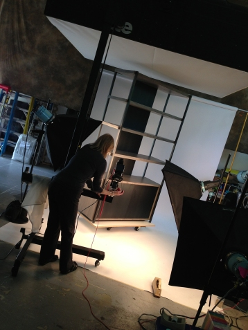 Diane photographing furniture