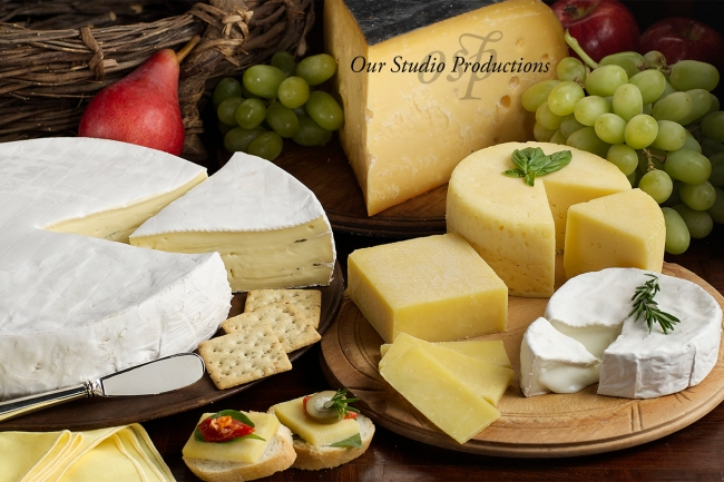 Gourmet Cheese for Advertising Photography