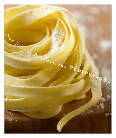 Pasta Fresh on Wood Photo by OSP