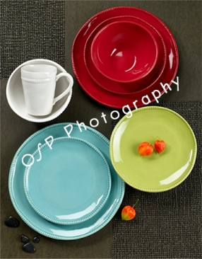 Place setting photo for advertising