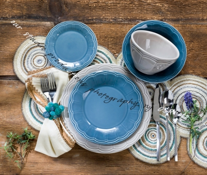 Place setting/tableware photography